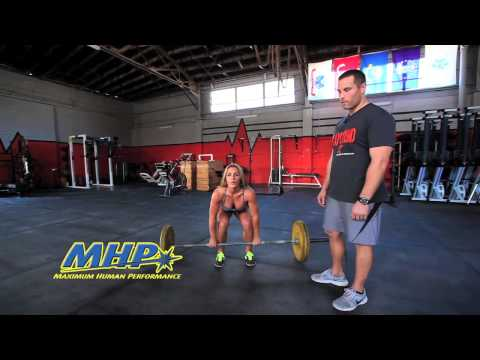 Power Cleans with Sarah Grace Part 1 Image 1
