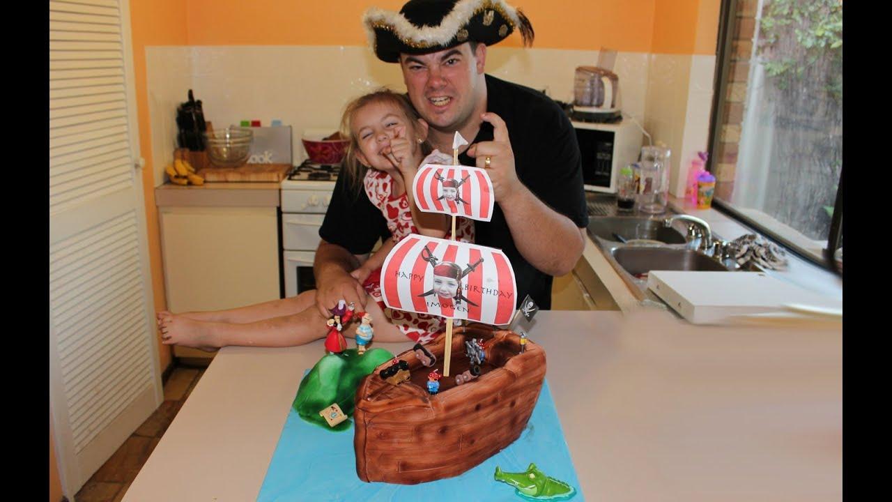 Pirate Ship Cake How To Youtube