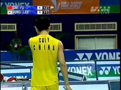 2009 World Championships - MD Final - Fu Haifeng / Cai Yun vs Jung Jae Sung / Lee Yong Dae