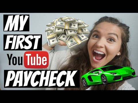 First Youtube Paycheck   How Many Views Do You Need To Get Paid?