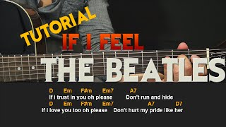 Como tocar - If I feel - THE BEATLES - Tutorial facil en Guitarra Acustica (HD)