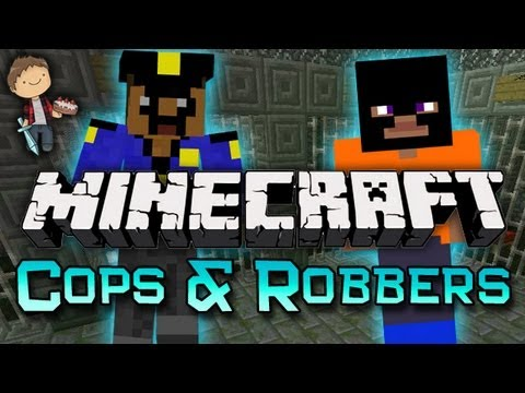 Minecraft: COPS AND ROBBERS Mini Game w Mitch Friends