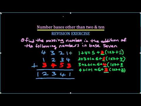 03 Number Base other than Ten REVISION EXERCISE