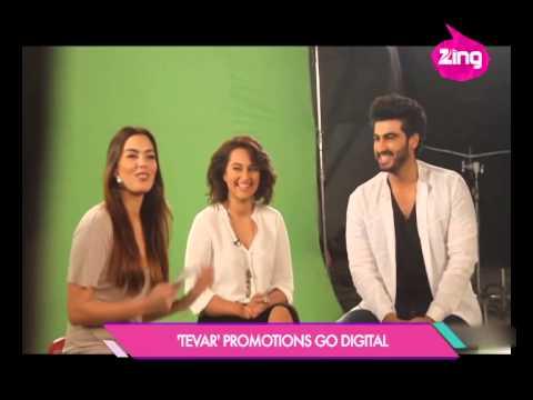 Arjun Kapoor and Sonakshi Sinha promote their upcoming film, Tevar | Bollywood Life | HD