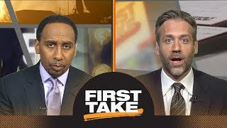 First Take makes predictions for Warriors vs. Rockets Game 5 | First Take | ESPN