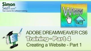 Dreamweaver CS6 - Creating a website