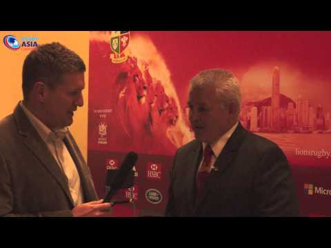 Interview with Lions Coach Warren Gatland in HK 2013
