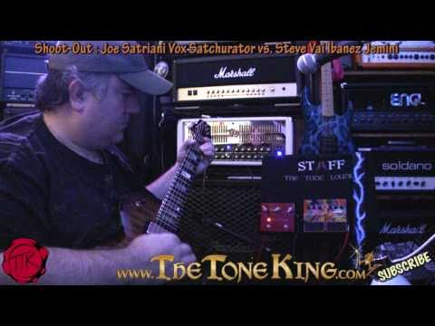 Joe Satriani Vs. Steve Vai Shoot-out Vox Satchurator Ibanez Jemini 30 Pedals Day #11 Namm 2011 '11 video