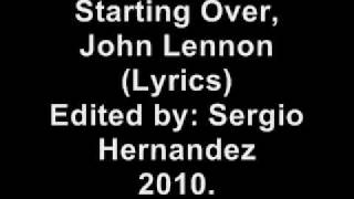 Watch John Lennon just Like Starting Over video
