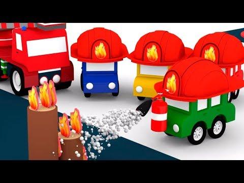 4 Машинки стали пожарными. Мультфильмы для детей