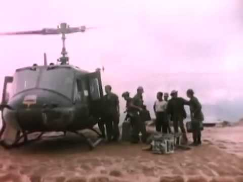 doc - Special Forces on Black Virgin Mountain get Radio Gear from Huey 1966 US Army, Vietnam War