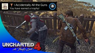 UNCHARTED 4: A Thief's End · I Accidently All the Guns Trophy Video Guide   All Weapons Locations