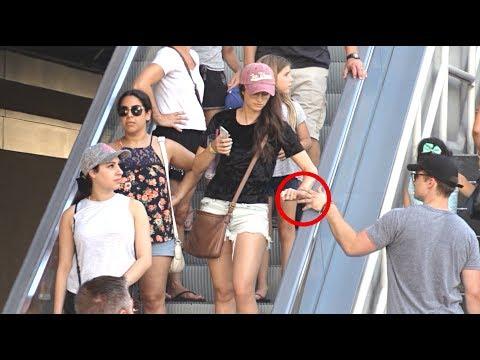 Touching Hands On The Escalator Prank 2