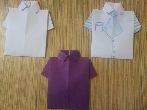 Открытка-рубашка мужчине своими руками День рождения 23 февраля