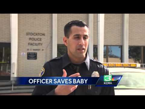 Calif. cop hailed as hero after saving baby's life