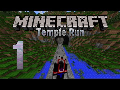 Minecraft Custom Map - Temple Run Ep.1 - First Attempt... RAGE! (Parkour Map)