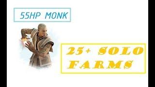 Guild Wars - 25+ Solo Farms - 55 HP Monk - 2018