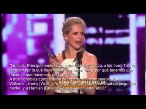 Sarah Michelle Gellar wins People Choice Award 2014 Subtitulado