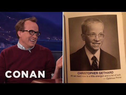 Chris Gethard's Heroically Awkward Yearbook Photo  - CONAN on TBS