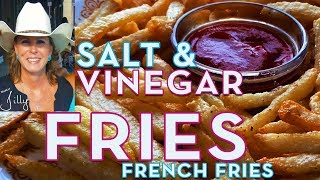 Salt and Vinegar Fries ~ French Fries Recipe Made with Salt and Vinegar