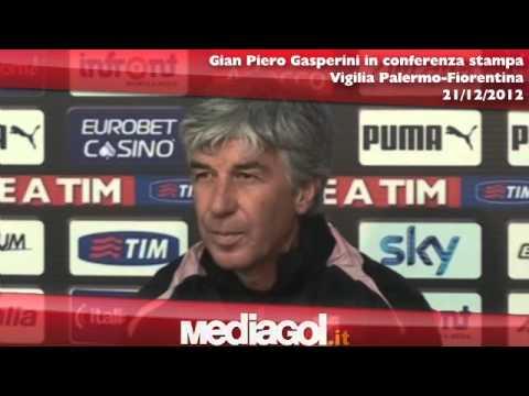 Gian Piero Gasperini in conferenza stampa vigilia Palermo-Fiorentina - 21/12/2012 - Mediagol.it