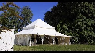 White Canvas Tents
