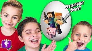 Giant MINECRAFT Adventure Egg with HobbyKidsTV