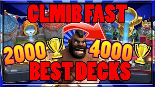 Top 3 Best Decks For Trophy Pushing Arena 7-11 Legendary Hog Rider Sparky Clash Royale Strategy Tips
