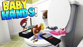 BABY USES TOYS TO EXPLORE HOUSE! - Baby Hands VR Gameplay