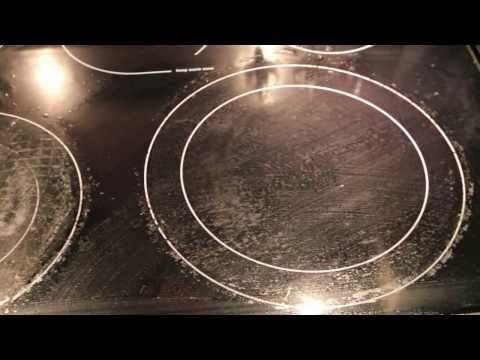 How to clean your glass cooktop using baking soda!