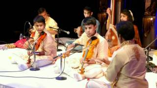 Kartigan and Ramanan Violin Arangetram - Patha Varnam