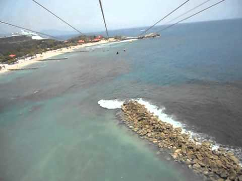WORLDS LONGEST ZIP LINE OVER WATER, Labadee Haiti
