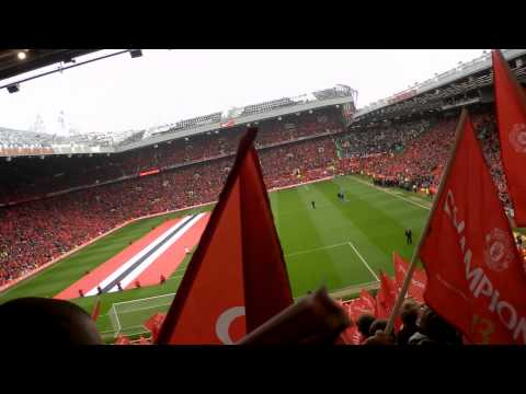 Man United v Swansea , Stretford End Atmosphere!!!