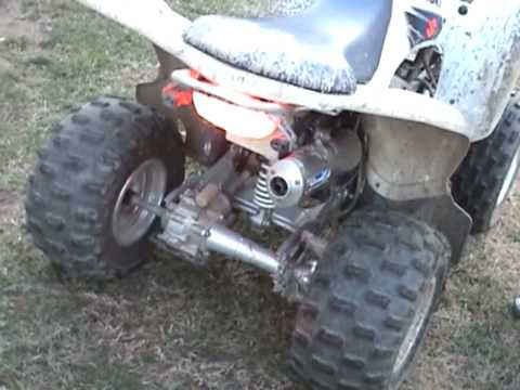 suzuki quadsport w/ loud yoshimura exhaust