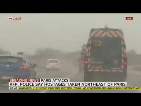 Police Chase Vehicle In Paris Thought To Belong To Suspects