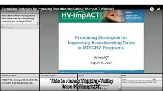 Promising Strategies for Improving Breastfeeding Rates (HV-ImpACT Webinar)