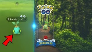 NEW TURTWIG COMMUNITY DAY EVENT IN POKEMON GO! Catching Shiny Turtwig!