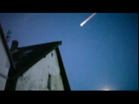 UFO (shot down ?) burns up over Russa