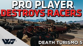 PRO PLAYER DESTROYS RACERS in this crazy PUBG death race