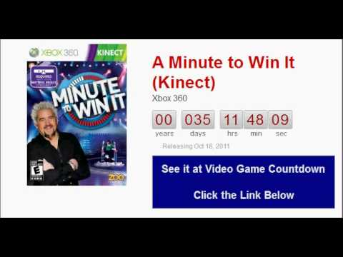 A Minute To Win It (kinect) Xbox 360 Countdown video