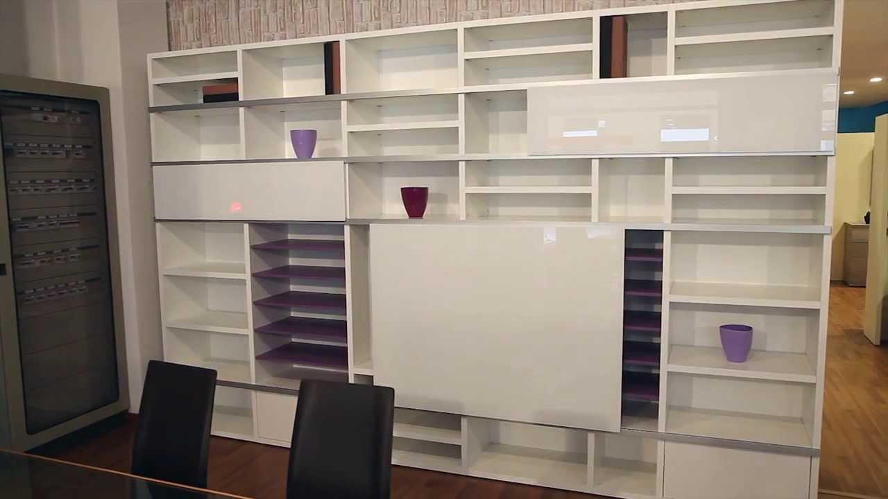 ... moderne, mobili libreria, soggiorni di design a Lissone - YouTube