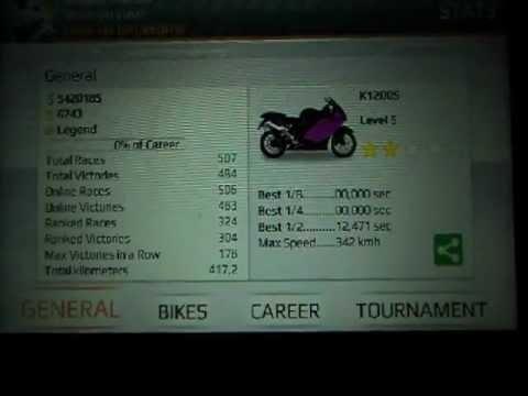 drag bike edition nivel5 k1200s 1/2 milla 12.471 p