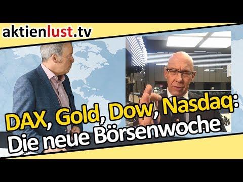 DAX, Gold, Nasdaq, Dow Jones: Die neue Börsenwoche auf aktienlust.tv | Jürgen Schmitt