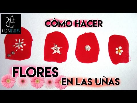 Cómo hacer flores en las uñas / how to draw flowers on your nails