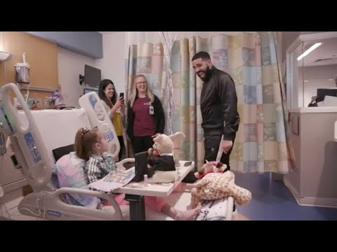 Drake surprises 11-year-old girl waiting for heart transplant in hospital