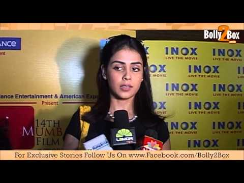 Genelia D'souza At Mami Promoting Sex Film video