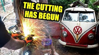 1967 VW Bus Restore Begins! - Cutting Up Gregory - 5