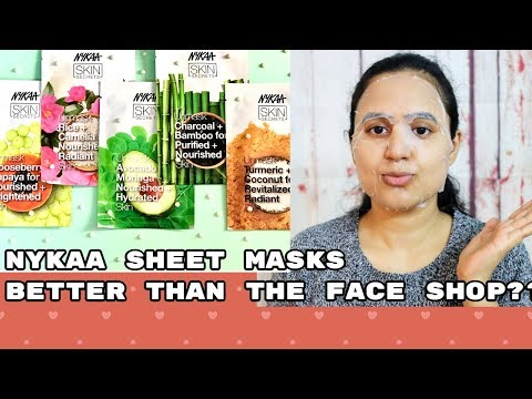 *NEW* NYKAA SHEET MASK DEMO & REVIEW + GIVEAWAY