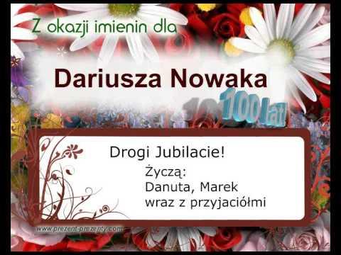 Piosenka Dla Dariusza Na Imieniny, Z Imieniem