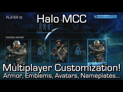 Halo MCC - All CUSTOMIZATION OPTIONS for Multiplayer! - Armour, Skins, Nameplates, Avatars...